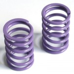 Spring short (front) Big Bore linear purple, hard, 2 pcs.