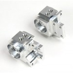 Alloy axle hub front offset 0 and 5mm/castor 6mm, left and right, set