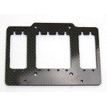 Carbon RC-plate for two small steering servos