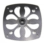 Carbon fan wheel cover for e-starter