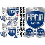 Aufklebesatz H.A.R.M. Racing komplett mit SX-5 Logo