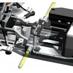 Umrüstsatz Servosaverabstützung hinten SX-4/SX-5 Version 2019 inkl. Vorderachsplatten neu
