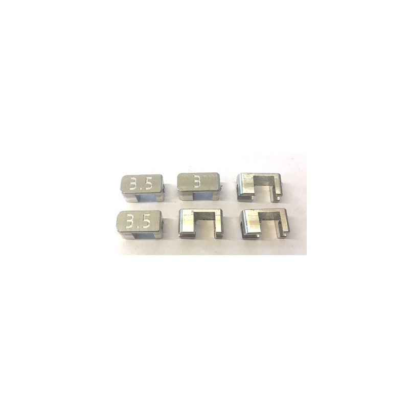 Toe-in block, 2.5 - 3 - 3.5 degrees, set 6 pcs