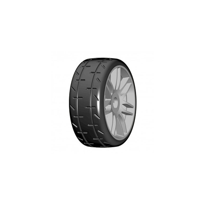 GRP 1:8 GTK01 REVO - S5 Medium - graue Felge, 1 Paar