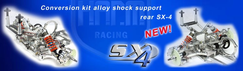 Conversion kit alloy shock support rear SX-4