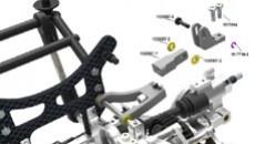 Alloy axle hub rear elevation SX-4 tuning, Set